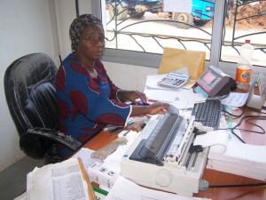 Mlle Kouakou Ago Nina, Commis à la gestion du Pont bascule de Montézo