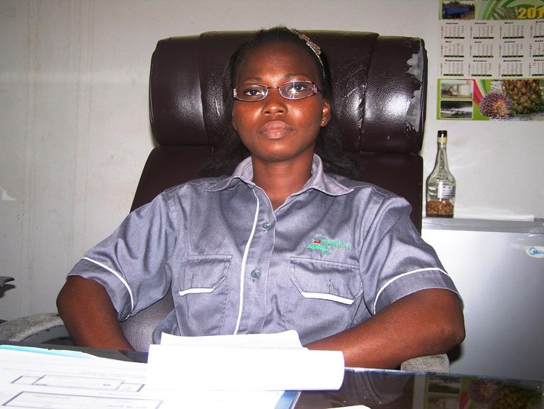 Juliana N'Gotta, chef d'huilerie d'Andéguédédou