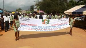 Arrivée de la procession pour la cérémonie