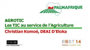 Conférence AGROTIC avec Palmafrique au #BEST14